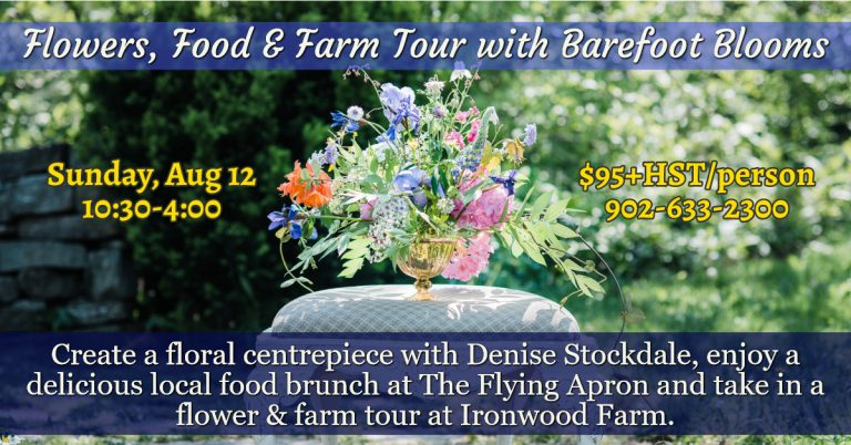 flowers, food and farm tour with barefoot blooms