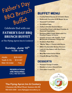 Father's Day BBQ Brunch Buffet Poster